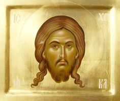 """Holy Face/Mandilion"" icon by Daniel Neculae, Romania, 2009 (http://www.artmajeur.com/en/artist/danneculae/collection/icons/1271224/artwork/mandilion-jpg/4119079)"
