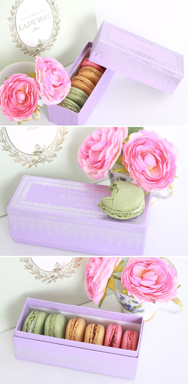 LADURÉE #MACARON. Roses and macaroons #packaging PD