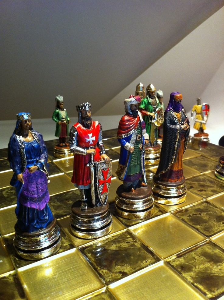 Chess set  Crusaders & Muslims. €280.00, via Etsy.