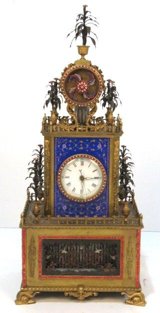 Chinese Enameled Bejeweled Bronze Automaton Clock in our upcoming May 17th Auction.