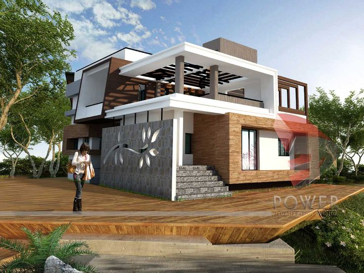 Modern japanese architecture 3d architecture rendering for Japanese exterior design