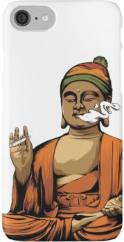 Buddha Smoking a Blunt iPhone 7 Cases