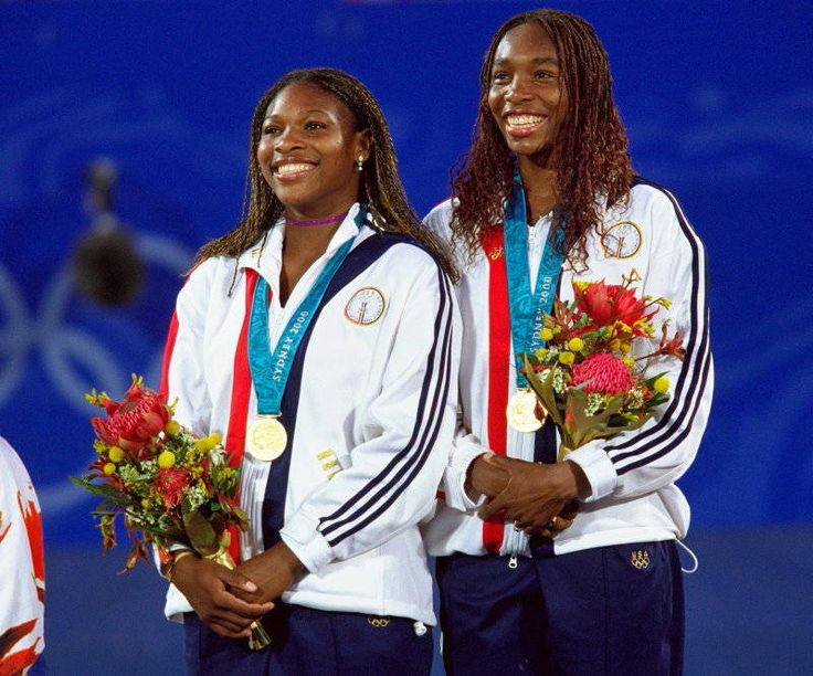 2000 - Venus and Serena Williams Women's Doubles Tennis, Sydney Olympic Games  Sisters Venus and Serena Williams won the gold medal in 2000 in women's doubles tennis.