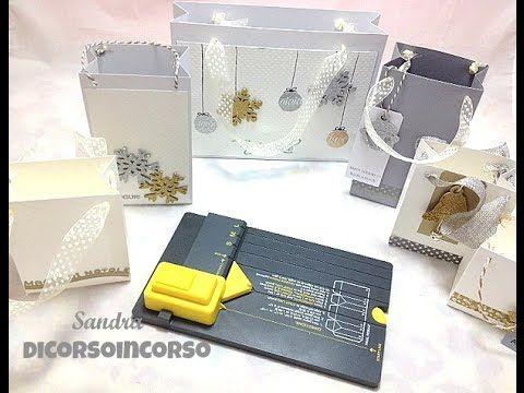 Gift Bag Punch Board Tutorial-Sacchetti di carta Fai da te-Christmas packaging-Natale fai da te - YouTube