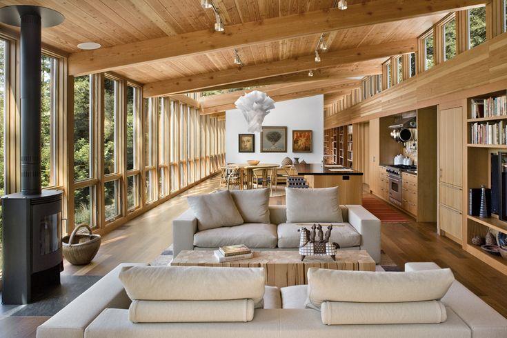 Location:Sebastopol, California, USA  Architect:Turnbull Griffin Haesloop: Griffin Haesloop, Architects, Open Spaces, Interiors Design, Living Room, Turnbull Griffin, Wood House, Open Plan, Sebastopol Resident