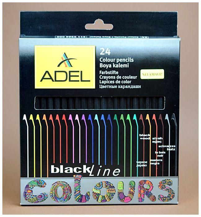 Pastelky ADEL 24 - Black Line
