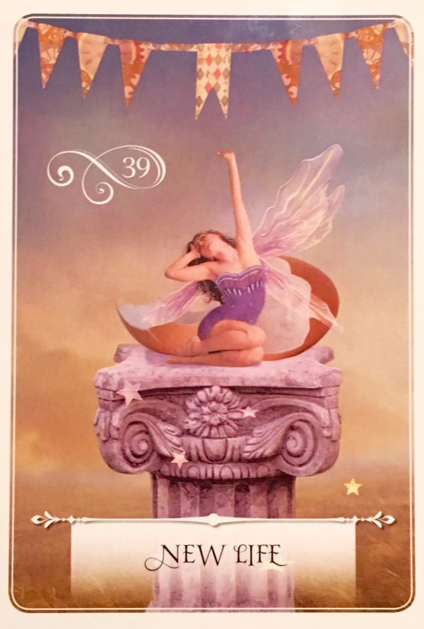"""Daily Angel Oracle Card: New Life, from the Wisdom Of The Oracle card deck, by Colette Baron-Reid New Life ~ Essential Meaning: """"Birth of new ideas; growth; opportunities; a breath of fresh a…"""