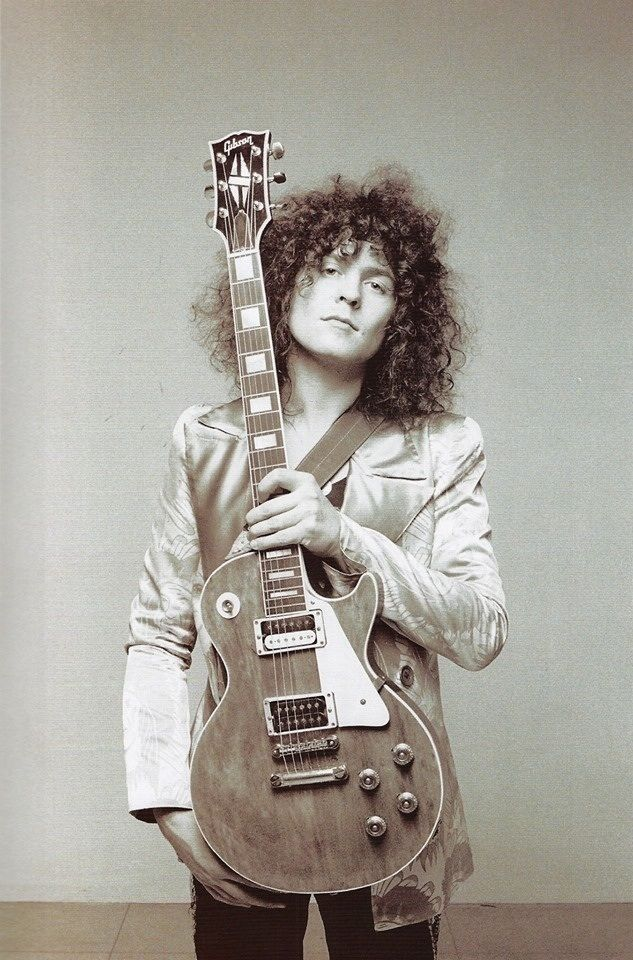 """Marc Bolan with his Les Paul. """