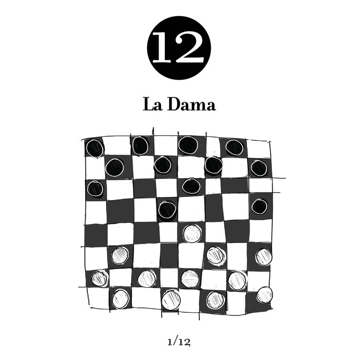 12, the number of white pieces and black ones in checkers. Strategy, planning and brilliance, as well as adaptation and problem solving are important factors to win.