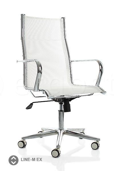 Line-M Ex - кресло из сетки для офиса с высокой спинкой