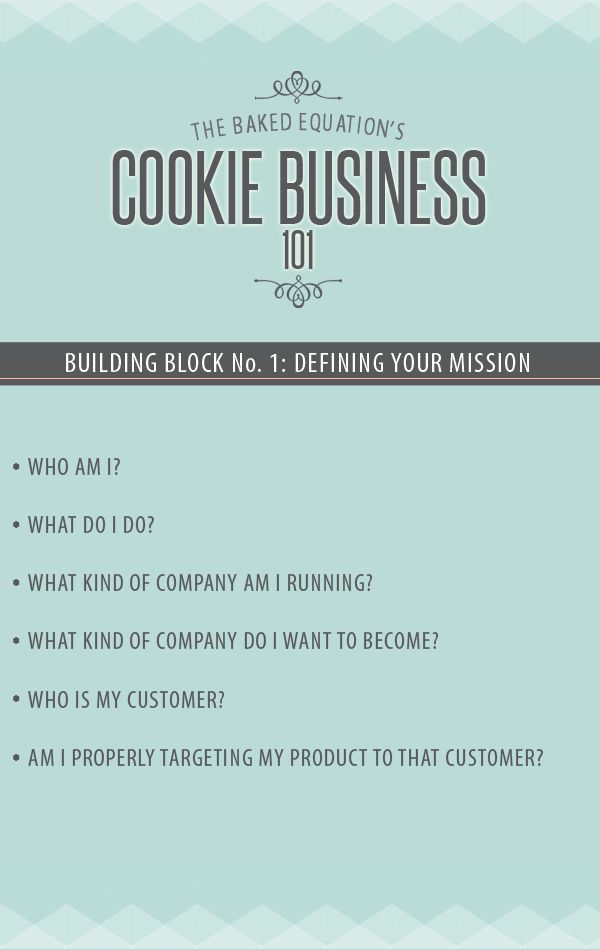 Cookie Business 101: why defining your mission is important #business #businessprinciples # mission