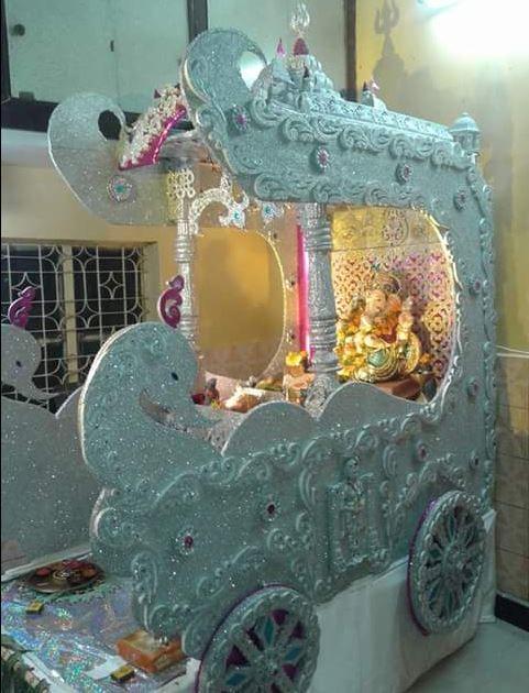 Ganpati Decoration Ideas At Home God Pinterest Home At Home And Ganesh