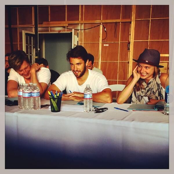Embedded image permalink-Revenge S4 table read with Gabriel Mann, Josh Bowman and Emily VanCamp