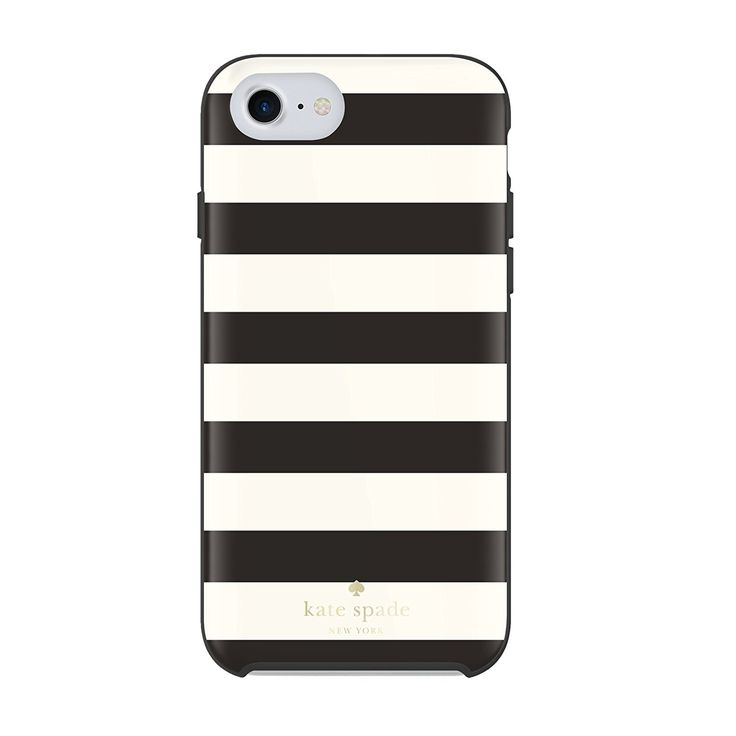 Kate Spade New York Protective Hardshell Case for iPhone 7/6 - Candy Stripe Black