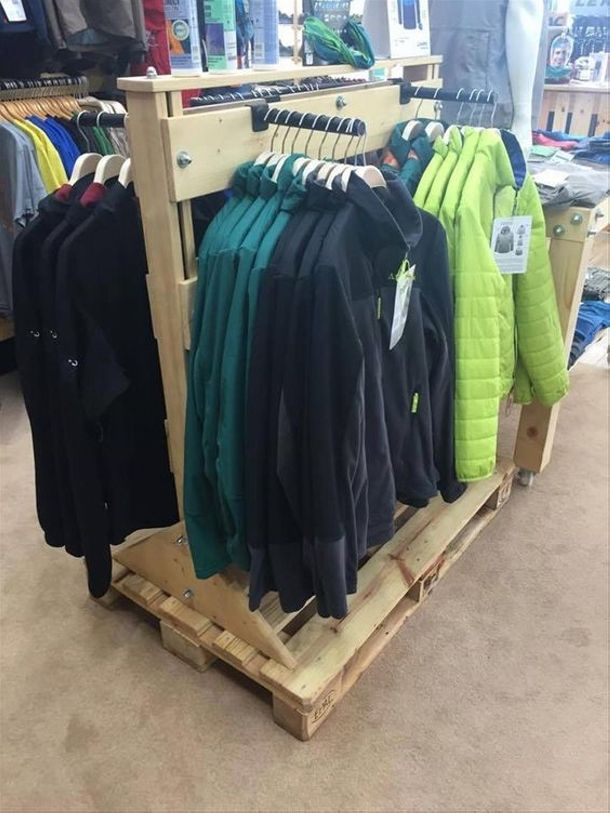 This is most useful pallet projects which have much space for displaying garments or grocery items. These all are creative and innovative pallet ideas in it as it designed with different and colorful pallets. This is ideal for customer shop, shoe shops and grocery shops so make your own pallet display stand that is modern.