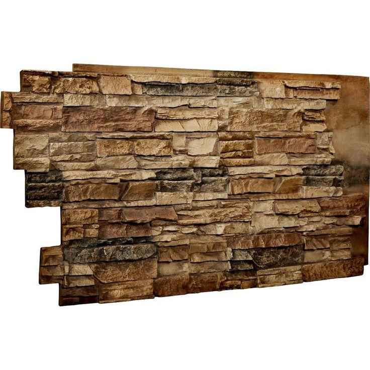 Best 25 stacked stone walls ideas on pinterest stone - Faux stacked stone interior walls ...