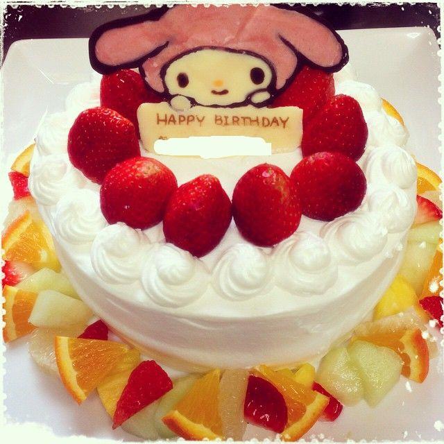rino2983 #デコケーキ #キャラケーキ#マイメロ #手作り #バースデーケーキ #誕生日 日々がんばります!