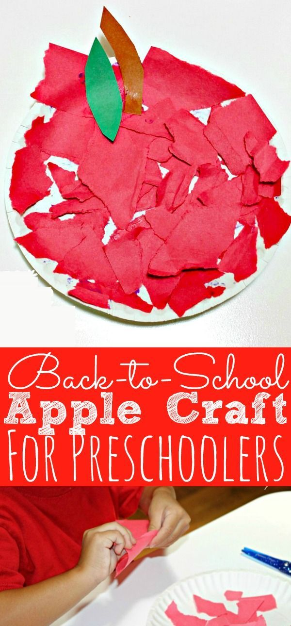 Zurück in die Schule Apple Craft für Kinder im Vorschulalter