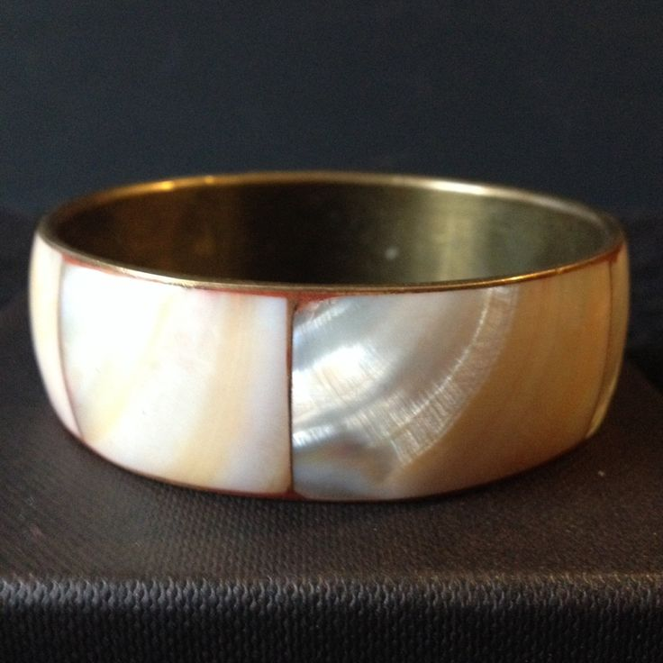 Vintage mother of pearl antique cuff bracelet by PastFunk on Etsy