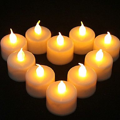 1PCS LED Yellow Candle Shaped Light Party Supply Wedding Decoration(4.5x3.9x3.9cm) – USD $ 0.99