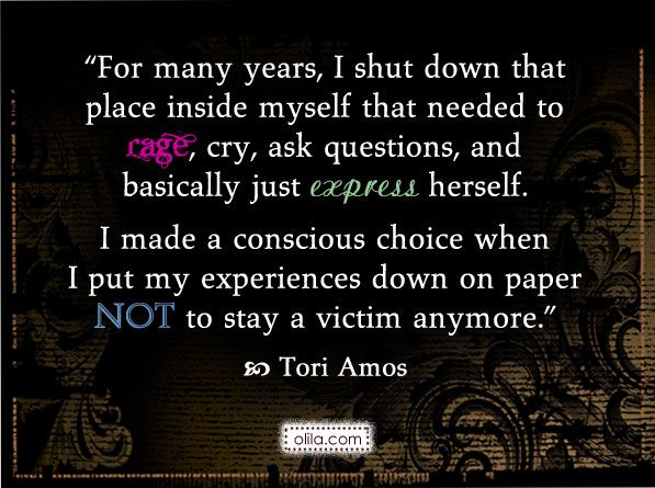 Quote from Tori Amos on sexual harassment and assault