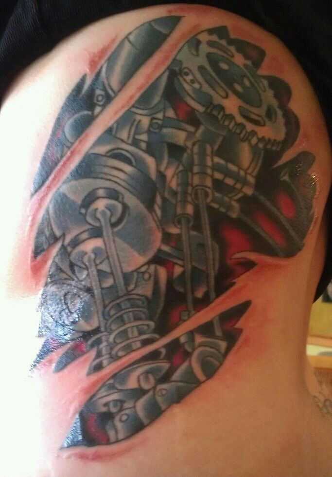 25+ trending Engine tattoo ideas on Pinterest | Motor tattoo, Biomechanical tattoos and ...