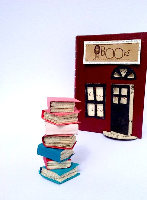 Book Cake Topper. Wedding or Graduation Stack by RubyCanoeDesign