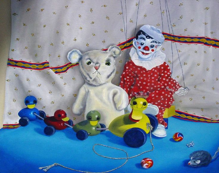 Fine Art Gallery - Contemporary Oil Paintings - Toy Still Life