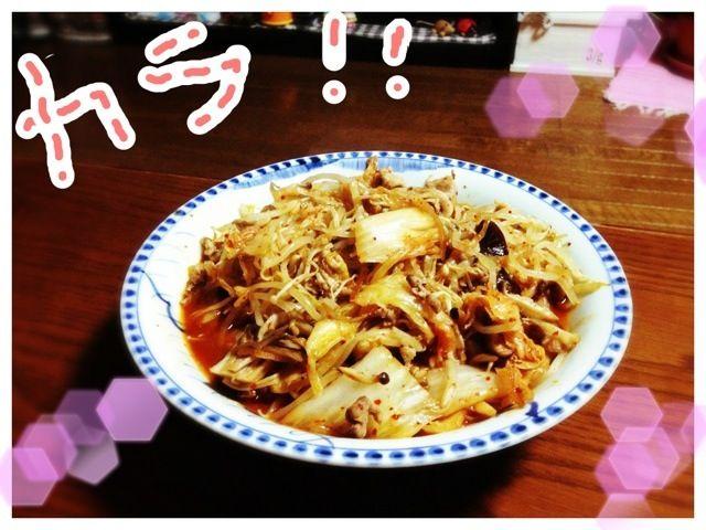 白菜キムチ漬けを入れすぎた!            味付けは麺つゆと砂糖 - 8件のもぐもぐ - 白菜キムチ炒め by KyonKyon1110