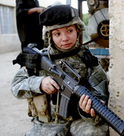 To our female soldiers, in combat more today than ever before.