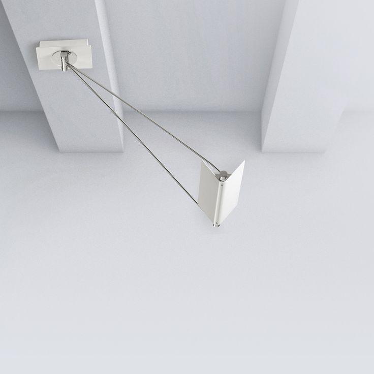 Simple SLING beweglicher LED Deckenstrahler Deckenstrahler mit individuell einstellbarer H he und Reflektor zur indirekten Beleuchtung