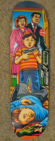This deck is still in the shrink wrap and has a few scuffs from storage. This is probably my favorite Guy Mariano deck.