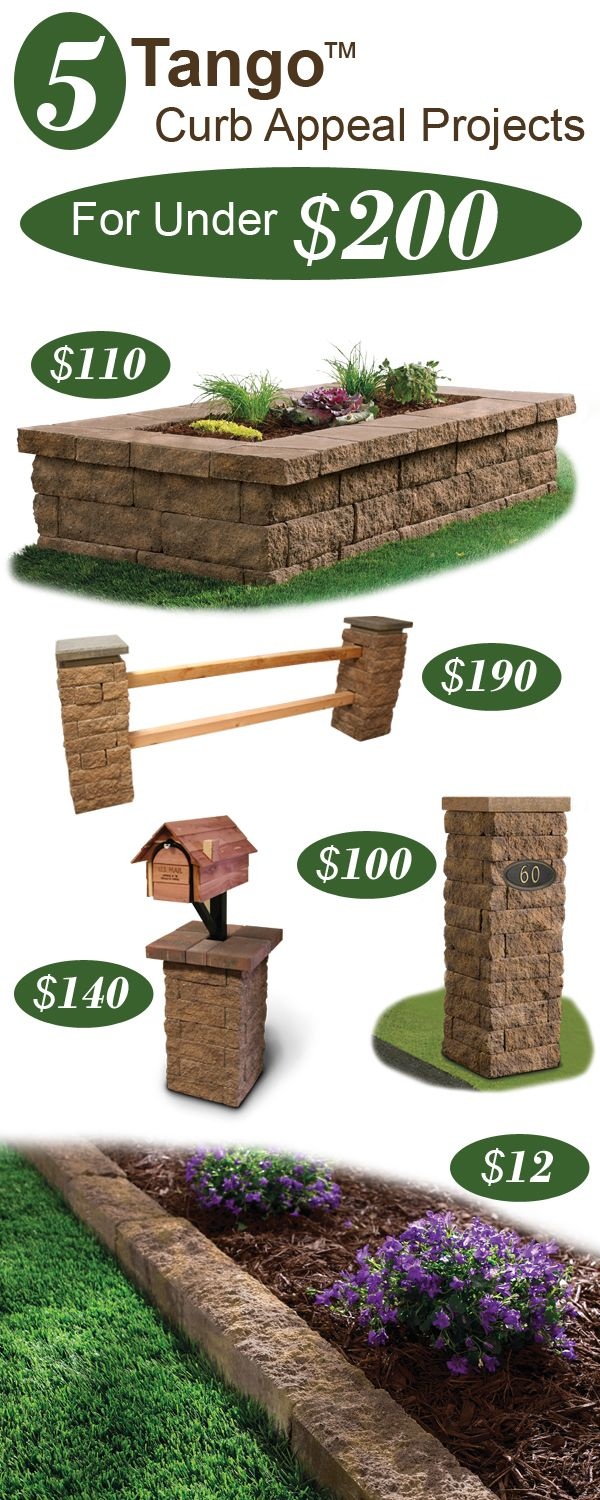 want to add curb appeal on a budget  here are 5 landscape project ideas under  200
