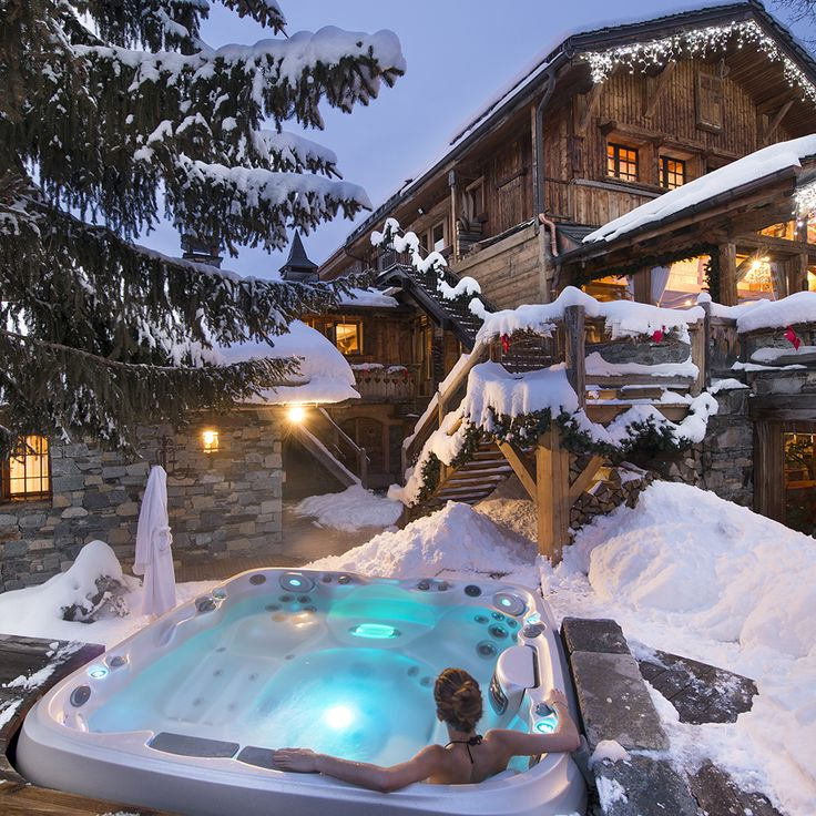 In an idyllic setting in the heart of the ski region of Trois Vallées, Relais & Châteaux La Bouitte has opened its doors to a sublime and timeless mountain since 1976. #RelaisChateaux #Mountain #Spa