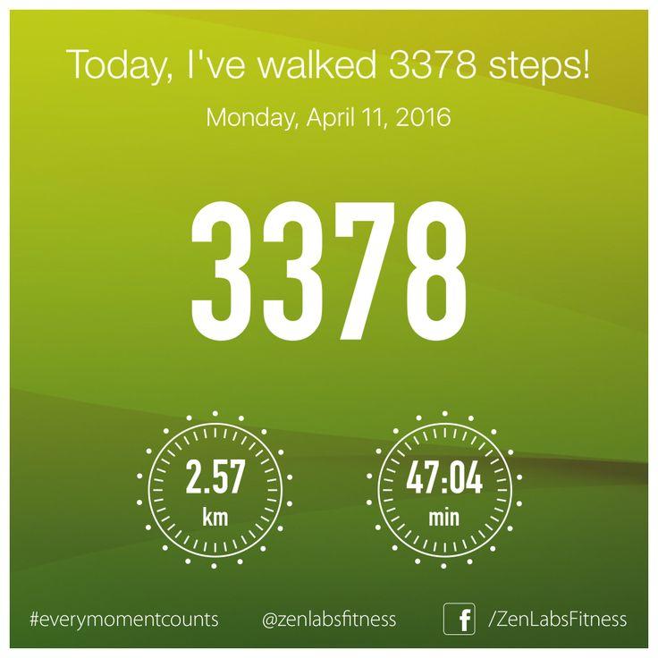 Monday, April 11, 2016 - 3378 steps