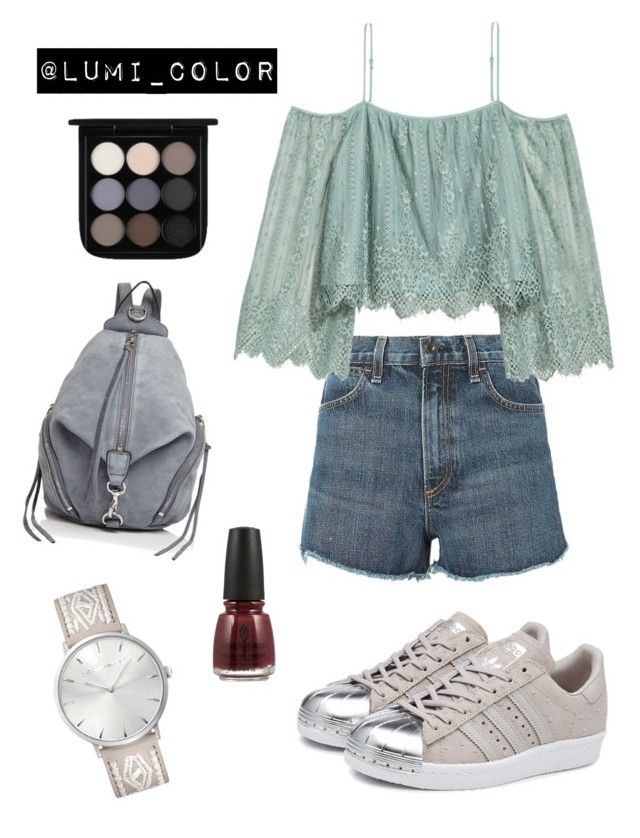 #softsummer #personalcolor Soft summer colors by lumicolor on Polyvore featuring polyvore, fashion, style, H&M, rag & bone, adidas Originals, Rebecca Minkoff, MAC Cosmetics, China Glaze, clothing, personalcolor, lumicolor and Mutesummer