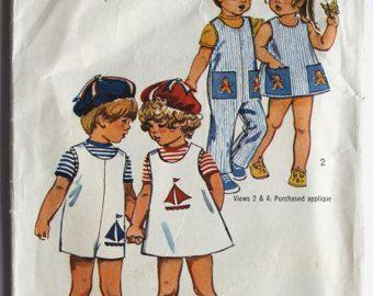 Matroos jurk patroon  Vintage 1960s meisje door PaperDollPatterns