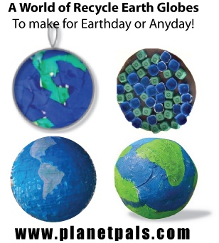 Best collection in the world of Earth Globes to make! Pinata, egg carton, lids, paper mache, balloons, non toxic clays, coffee filters, crayons, more!