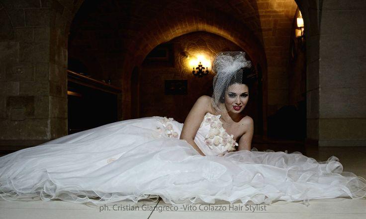 Hair  Make Up Elisa Colazzo. Ester Rizzo testimonial 2014 Vito Colazzo Parrucchieri #hair #wedding #vitocolazzoparrucchieri