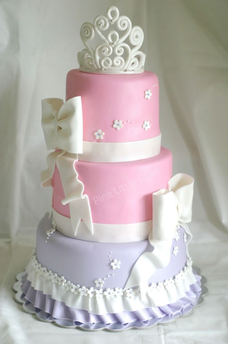 Pink Little Cake: Pastel Tiara Baby Shower Cake