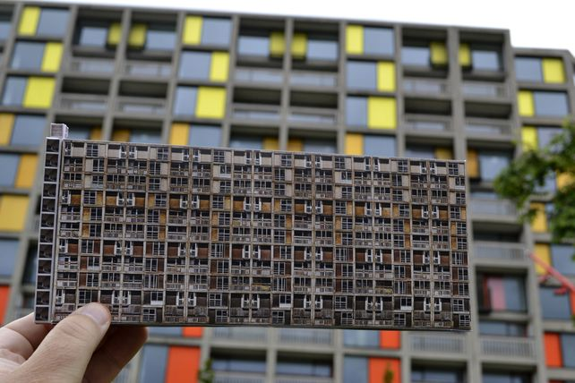 Park Hill Flats Sheffield Brutalist Model £8.50