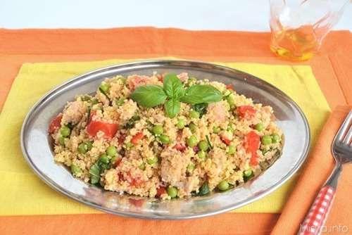 Ricette  Cous cous con piselli e salmone