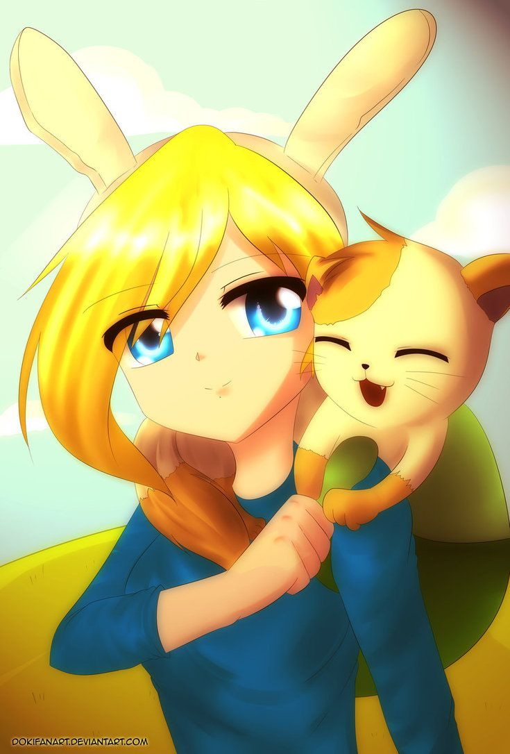 Adventure Time Anime Version | Adventure time - Fionna and Cake Anime Version by DokiFanArt on ...