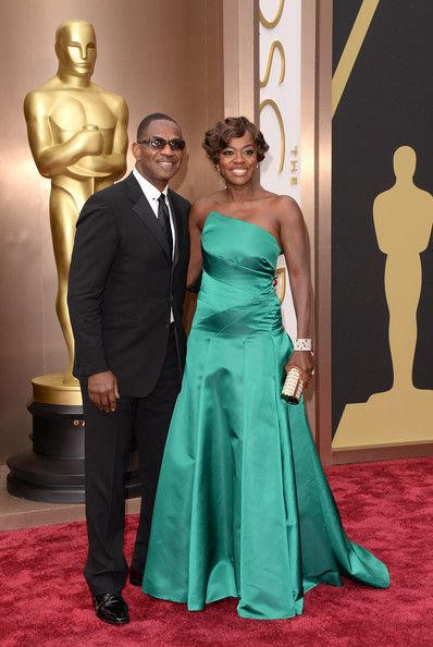 #oscarfashion Actors Julius Tennon (L) and Viola Davis attend the Oscars held at Hollywood & Highland Center on March 2, 2014 in Hollywood, California.