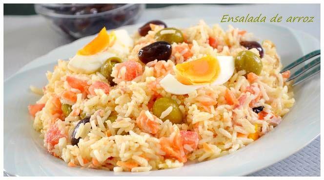 Ensalada de arroz con mayonesa (Thermomix)