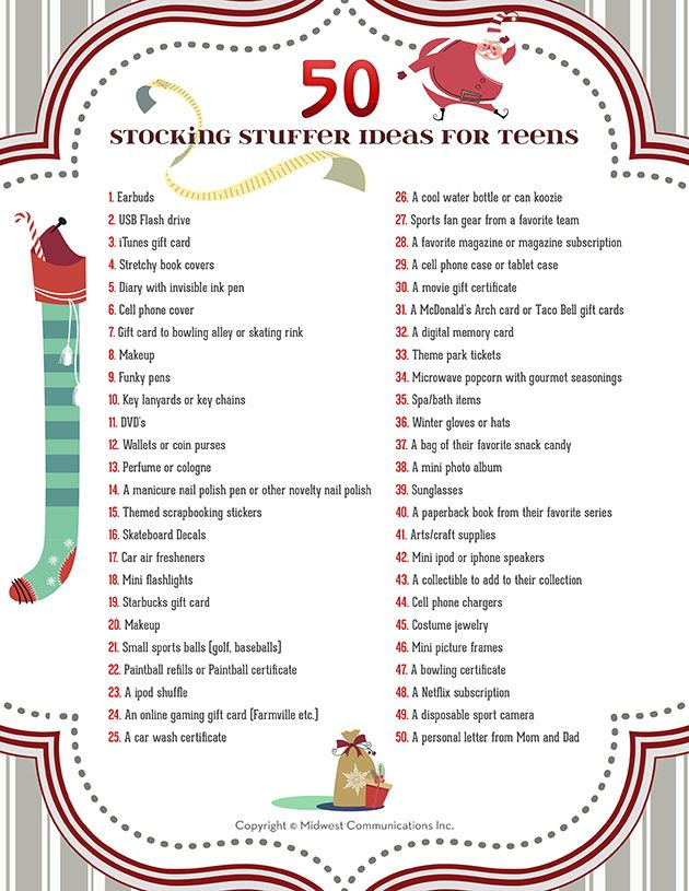 50 Stocking Stuffer Ideas For Teens