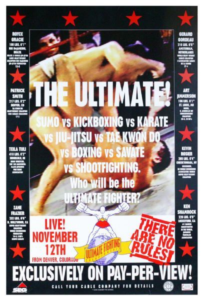 UFC #1 Official Event Poster - Rare and in Mint Condition!