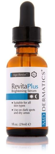 RevitaPlus Spot Brightener Spot Brightening Seru Acid and botanical extracts corrects hyper-pigmentation while maintaining moisture content within the extra-cellular space, hydrating your skin and increasing its volume and density Benefits Regulates melanin production from melanocytes. Disperses already present melanin pigments. Ability to retain and binds moisture to skin. provides a mechanism to transport essential nutrients to cells. Hydrates skin by locking in moisture.