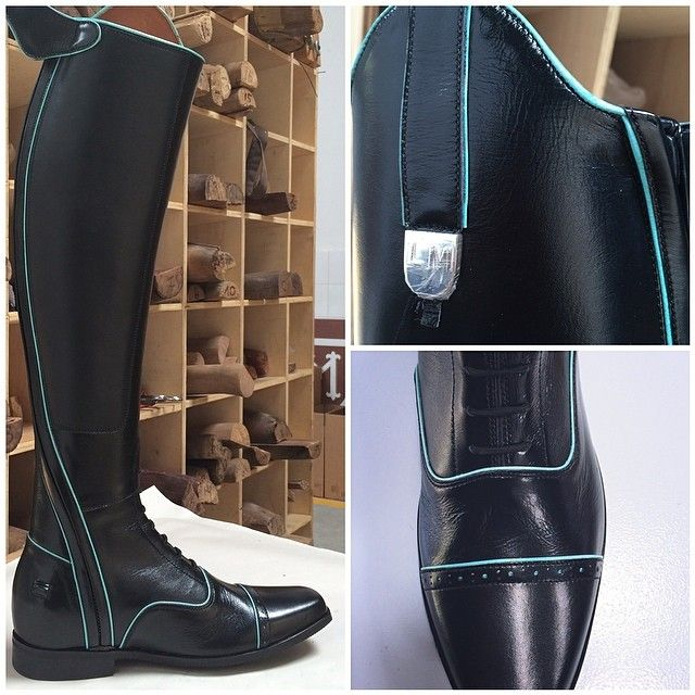 New Field Boot - Black & Turquoise Love love LOVE!!