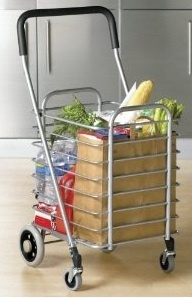 Personal Shopping Cart - Great for visiting farmers markets and for returning empties.